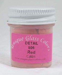 Unique Glass Colors Red Detail
