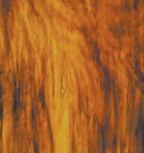 Wissmach Stained Glass Sheet Amber Crystal Opal